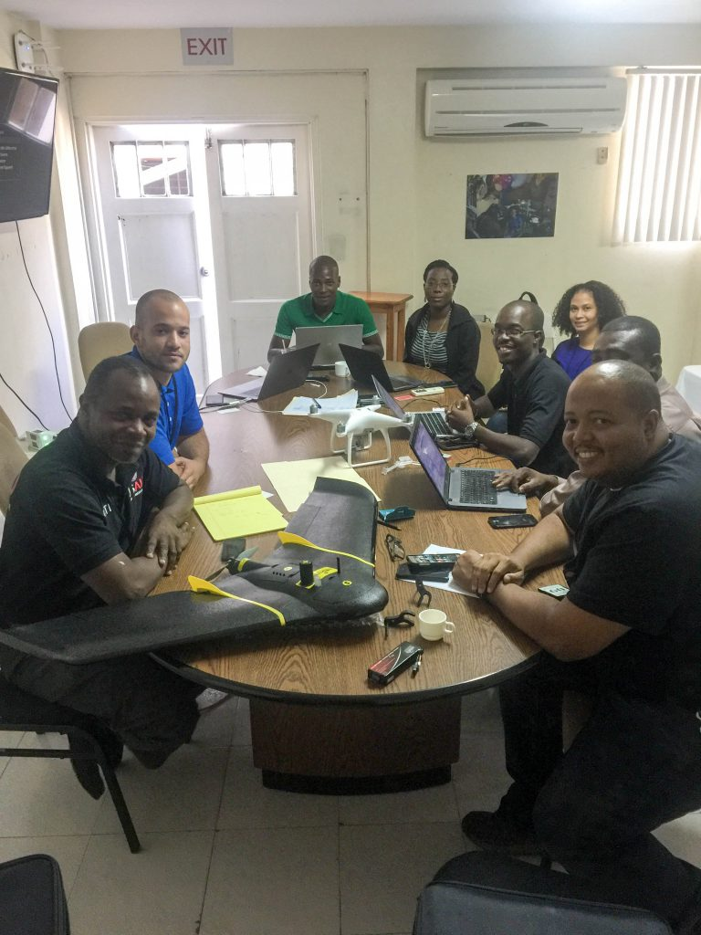 In order to boost interest in robotics technology in Haiti, WeRobotics and CRS co-hosted a small Haitian Drone Community Meeting, with representatives from USAID, local drone photography businesses, and other NGOs.