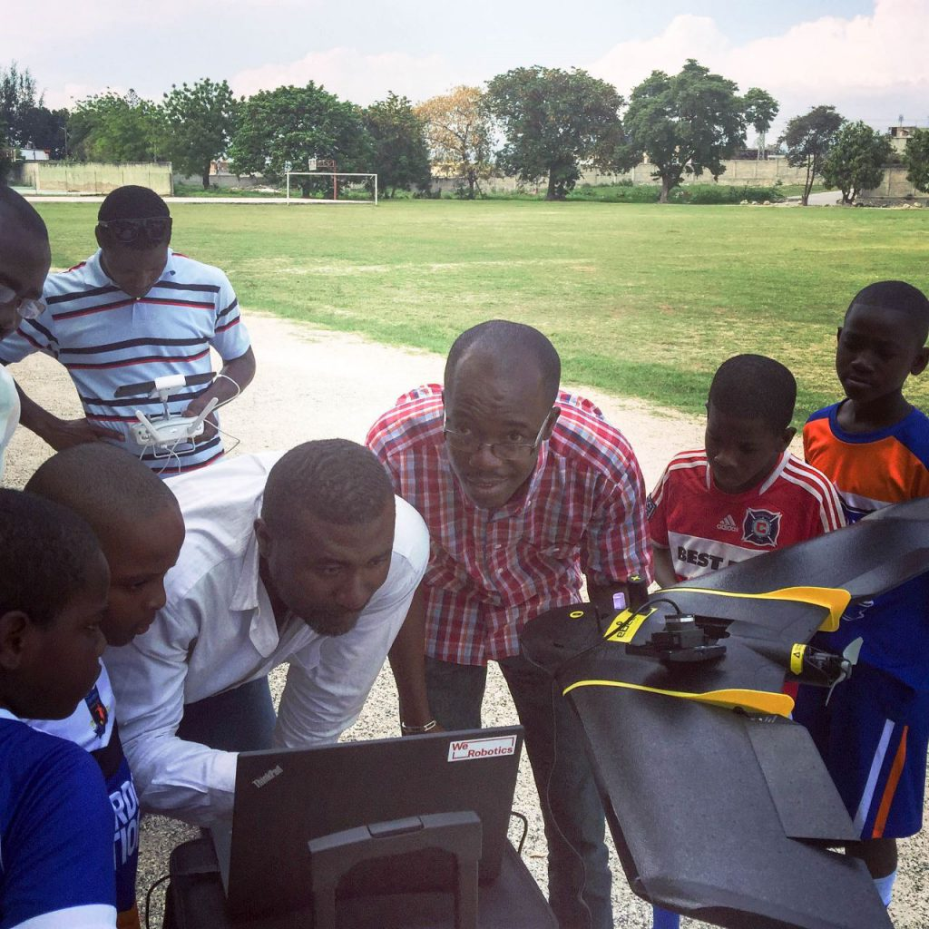 Preparing a mapping flight plan for the eBee, with some support from the local football team.