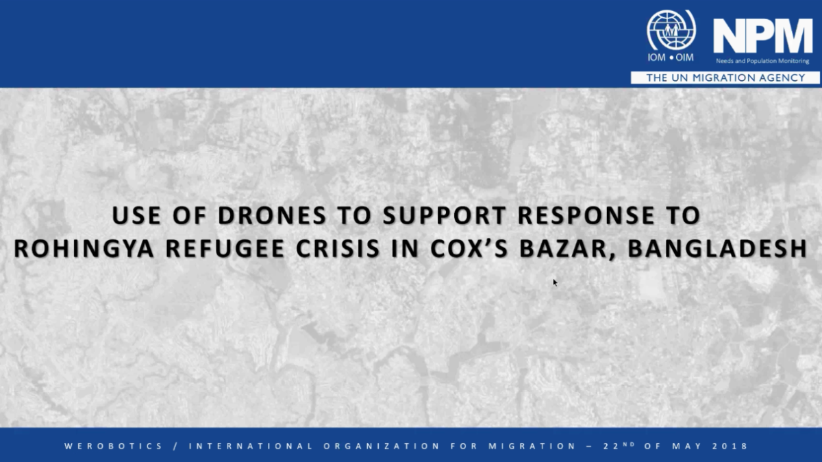 Video: Using Drones to Support Response to Rohingya Crisis