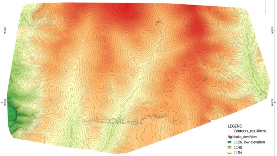 NGOBOKO Digital Elevation Model With Controls