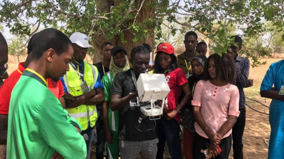 The students and their trainers left the classroom behind, and ventured off to a local farm. There, for the first time, they experienced drones in action - with some students even having the opportunity to pilot them firsthand!