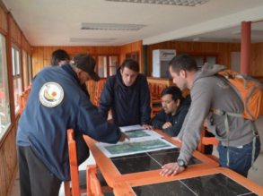 Volunteers of Chile Flying Labs were welcomed by the fishing community of Cartagena