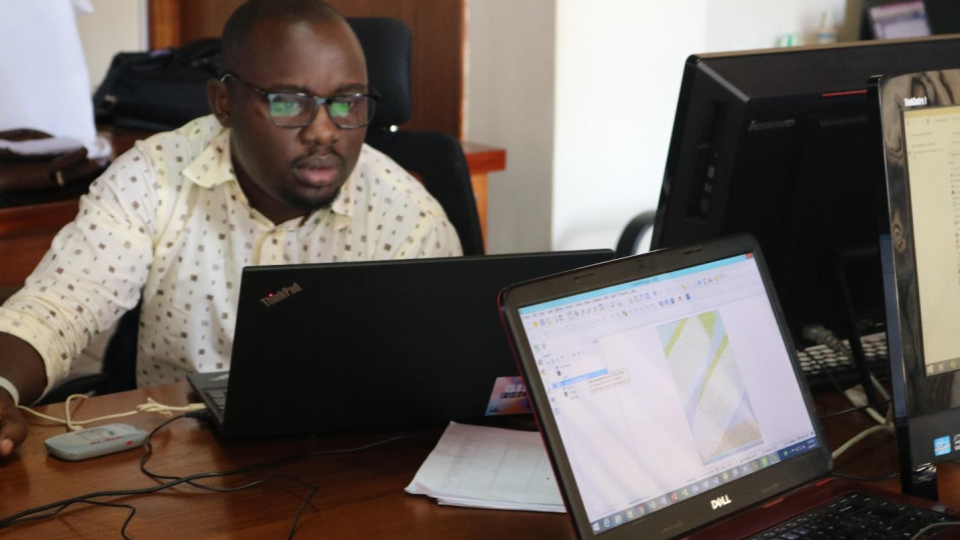 Participant in the image analysis Training in Kampala after capturing the images in the field