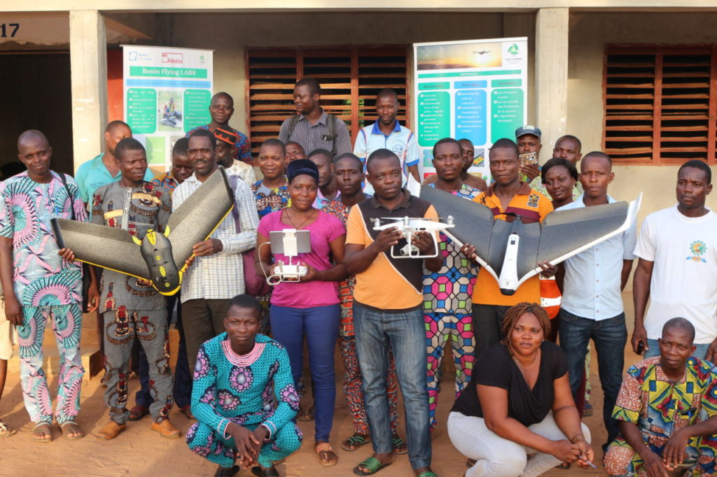 Participants of the Benin Flying Labs Pineapple Farmer Workshop