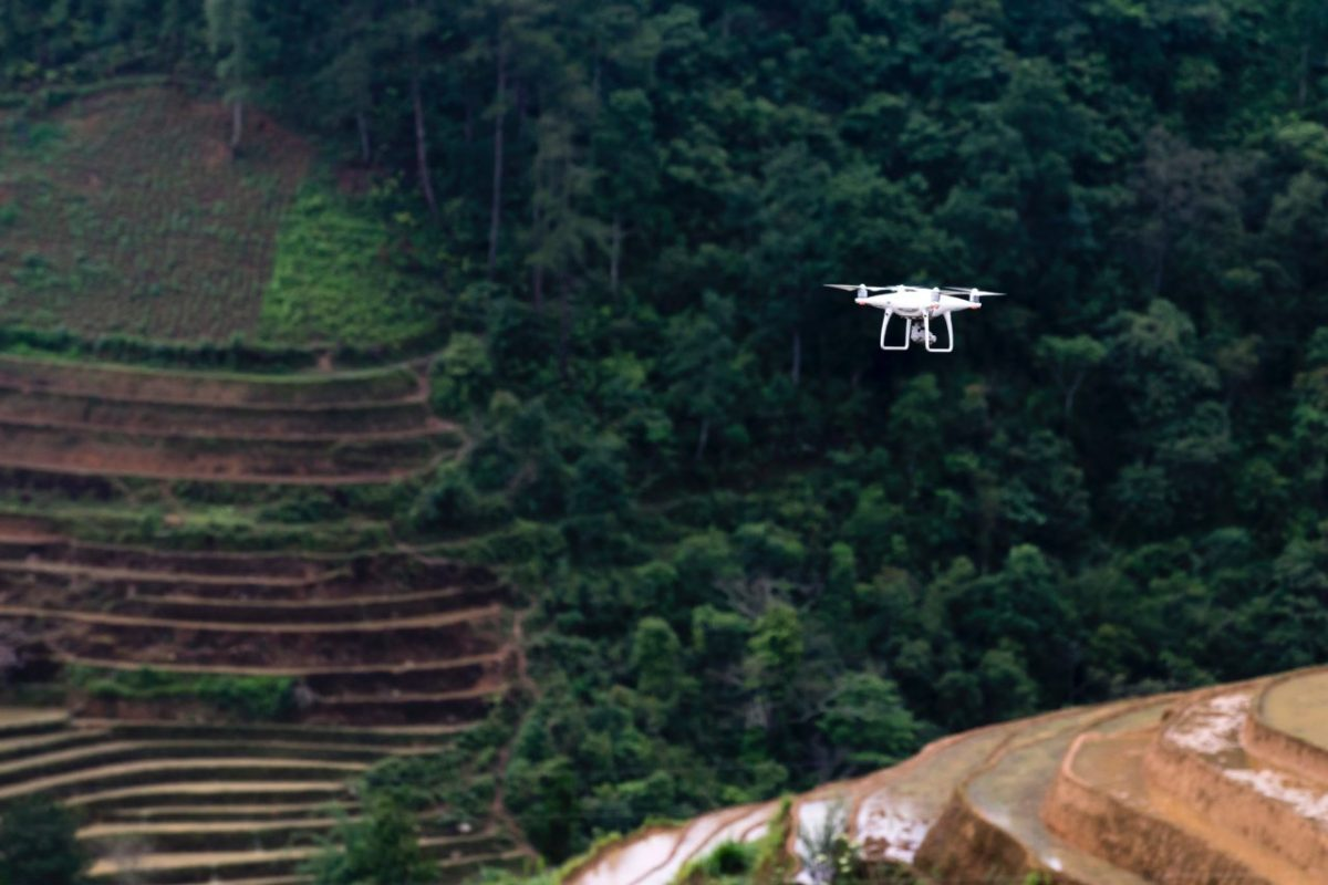 White Drone Flying Above Trees. Photo by Quang Nguyen Vinh from Pexels