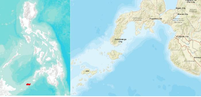 Figure 1. Sulu Island in Mindanao