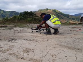 Man with Drone - South Pacific Flying Labs, Draubuta Landslide Project