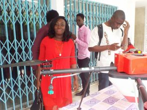 Côte d'Ivoire Flying Labs - Woman at Flying Labs Day Open House