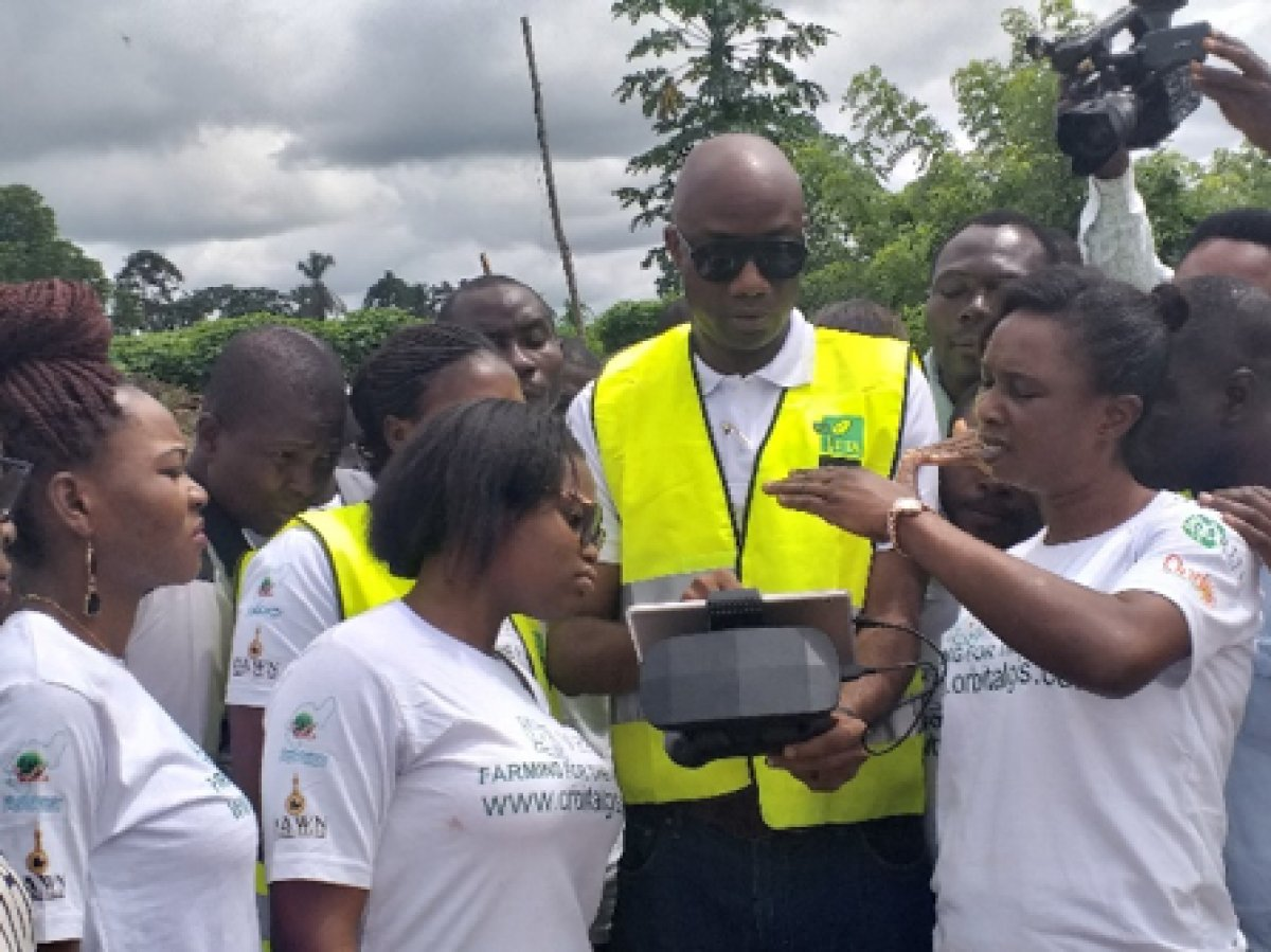 Training of youth and farmers in drone for agriculture Ondo State