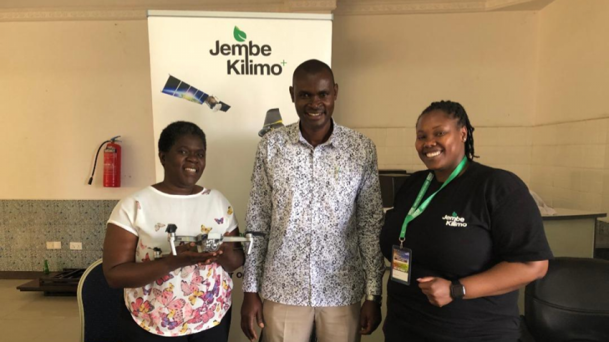 JembeKilimo+ with stakeholders posting at the exhibition both at ANSAF ALE on Nov 2019
