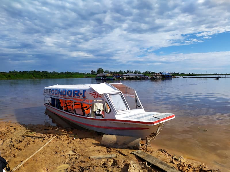 """Slider"" in Requena, a town on the banks of the Ucayali River, 7 hours away from Iquitos."