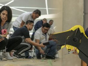 Philippines Flying Labs Country Director Dr. Heidi Sampang teaches the basics of drone flight to CDC employees. (Photo: Ric Gonzales)