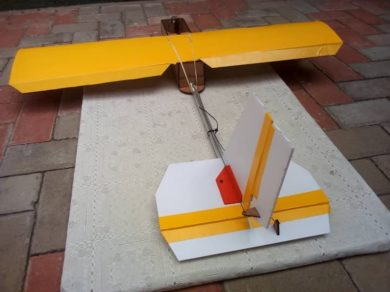 A low-cost, fixed-wing drone prototype produced by Namibia Flying Labs