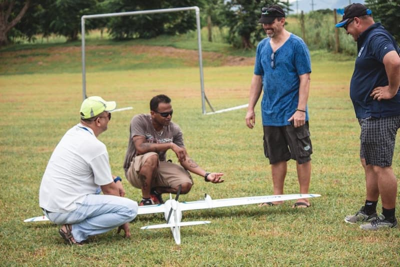 Fiji Flying Labs and a fixed-wing drone
