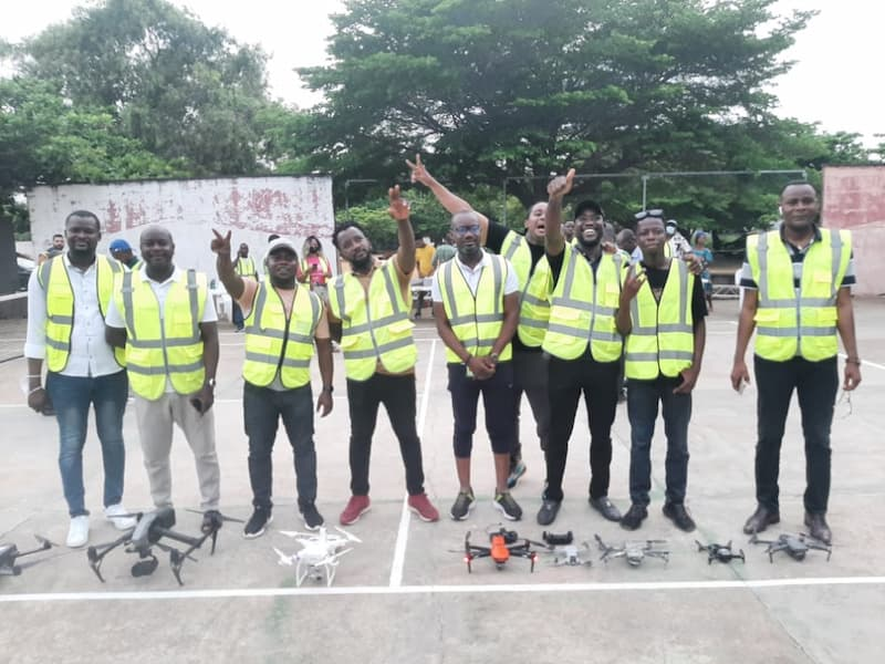 Benin's first World Drone Day festival ended with a family photo