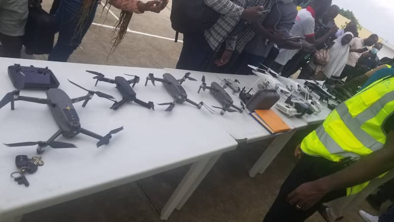 Spotlighting different drone types on World Drone Day in Benin