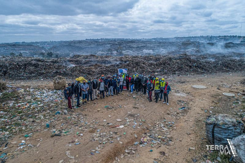 Zambia Flying Labs works with partners on waste management